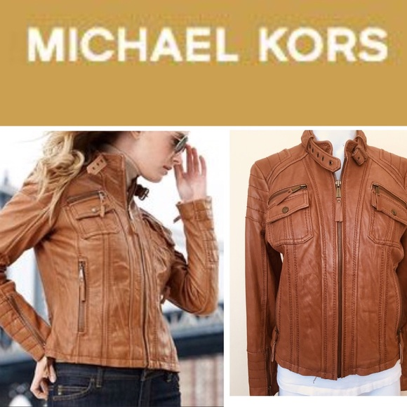 b1071547a099 Michael Kors Leather Motorcycle Jacket. MICHAEL Michael Kors.  M 5ba95d72f63eeaf91b261a02. M 5ba95f289fe486caf85ebcbb.  M 5ba95f2da5d7c6c92dcb3e17